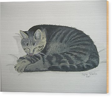 Wood Print featuring the painting At Rest by Norm Starks