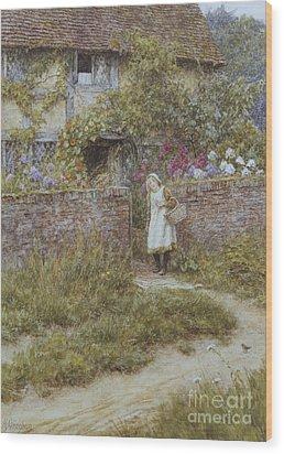 At Sandhills Wood Print by Helen Allingham