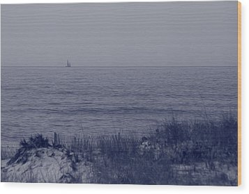 At Sea Wood Print by Christopher Kirby