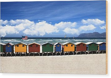 Wood Print featuring the photograph At The Beach by David Dehner