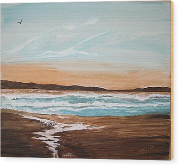At The Beach Wood Print by Maris Sherwood