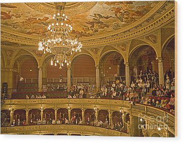 At The Budapest Opera Wood Print by Madeline Ellis