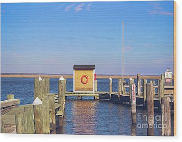 Wood Print featuring the photograph At The Dock by Colleen Kammerer