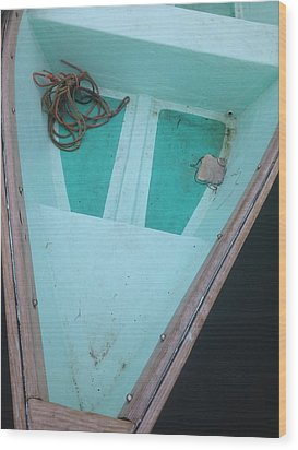 Wood Print featuring the photograph At The Dock by Olivier Calas