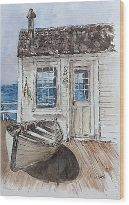 At The Dock Wood Print by Stephanie Sodel