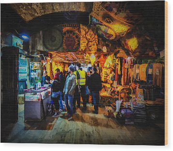 At The Grand Bazaar Wood Print by Steve Taylor