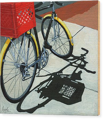 At The Grocery Wood Print by Linda Apple