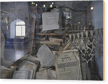 Wood Print featuring the photograph At The Old Tample Of Safed  by Dubi Roman