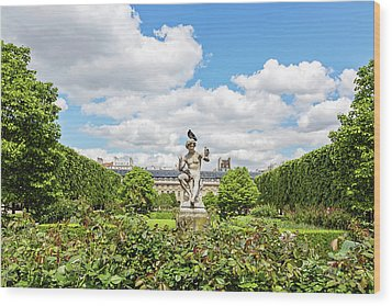 Wood Print featuring the photograph At The Palais Royal Gardens by Melanie Alexandra Price
