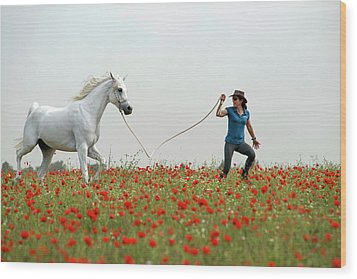 At The Poppies' Field... 2 Wood Print