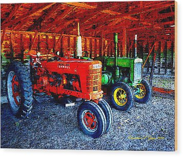 At The Ready Wood Print by Christine S Zipps