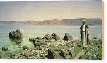 At The Sea Of Galilee Wood Print by Vasilij Dmitrievich Polenov