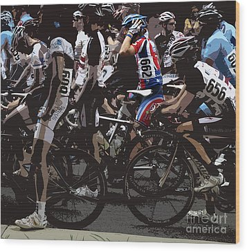 At The Starting Gate Wood Print by Steven Digman