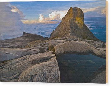 Wood Print featuring the photograph At The Summit by Ng Hock How