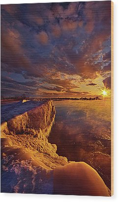 Wood Print featuring the photograph At World's End by Phil Koch