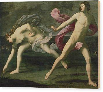 Atalanta And Hippomenes Wood Print by Guido Reni