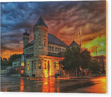 Atchison Post Office  Wood Print by Dustin Soph