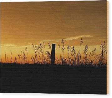 Atchison Sunset Wood Print by Dustin Soph
