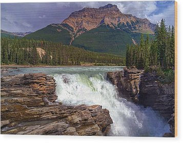 Athabasca Falls Wood Print by Heather Vopni