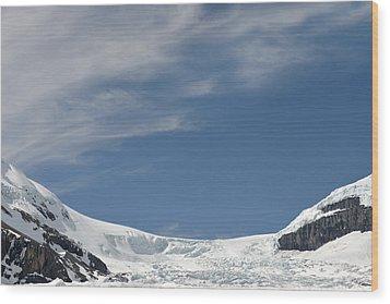 Athabasca Glacier Vista Wood Print