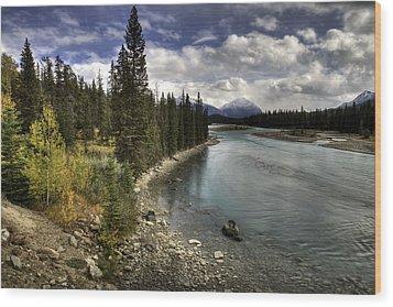 Athabasca River Wood Print