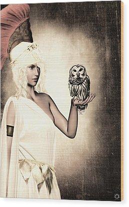 Athena Wood Print by Lourry Legarde