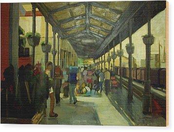 Athens Larissa Railway Station Wood Print by George Siaba
