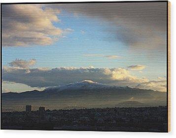 Athens Sunrise Wood Print by Julia Bridget Hayes