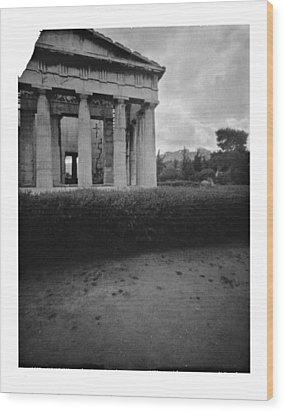 Athens Temple Of Ephesus Wood Print by Luca Baldassari