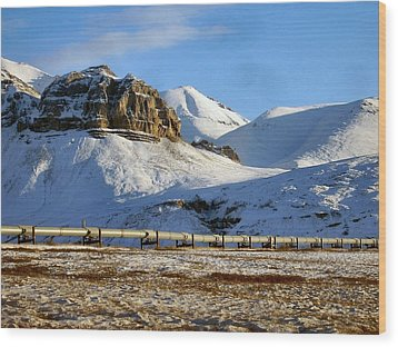 Wood Print featuring the photograph Atigun Pass by Adam Owen