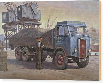 Atkinson At The Docks Wood Print by Mike  Jeffries