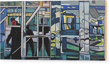 Atlanic City Abstract No.1 Wood Print by Patricia Arroyo