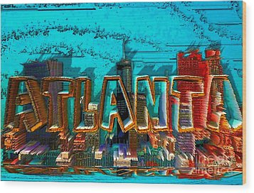 Atlanta 2016 By Nico Bielow Wood Print