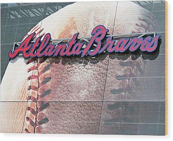 Wood Print featuring the photograph Atlanta Braves by Kristin Elmquist