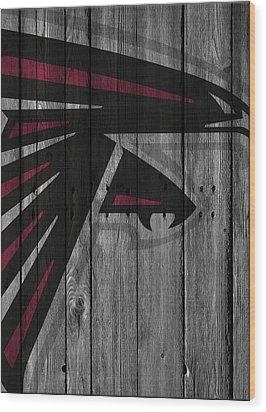 Atlanta Falcons Wood Fence Wood Print by Joe Hamilton