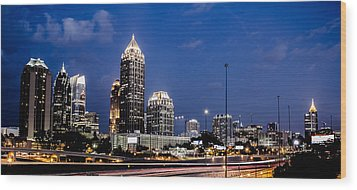 Atlanta Midtown Wood Print