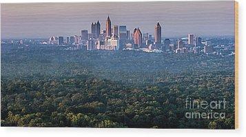 Atlanta Skyline Wood Print