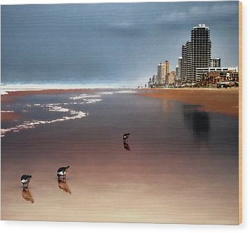 Wood Print featuring the photograph Atlantic Beach by Jim Hill