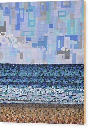 Atlantic Beach Wood Print by Micah Mullen