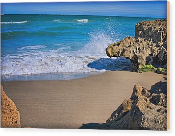 Wood Print featuring the photograph Atlantic Beach by Robert Smith