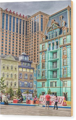 Wood Print featuring the photograph Atlantic City Boardwalk by Matthew Bamberg