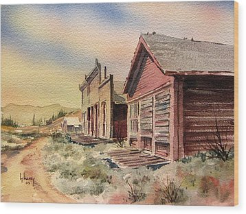 Atlantic City Ghost Town Wyoming Wood Print by Kevin Heaney