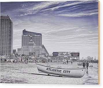 Wood Print featuring the photograph Atlantic City by Linda Constant