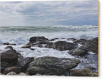 Wood Print featuring the photograph Atlantic Scenery by Andrew Pacheco