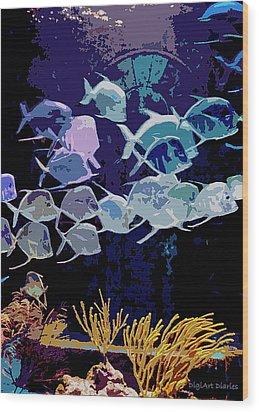 Atlantis Aquarium Wood Print by DigiArt Diaries by Vicky B Fuller