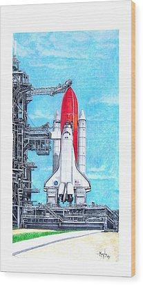 Atlantis Wood Print by Murphy Elliott