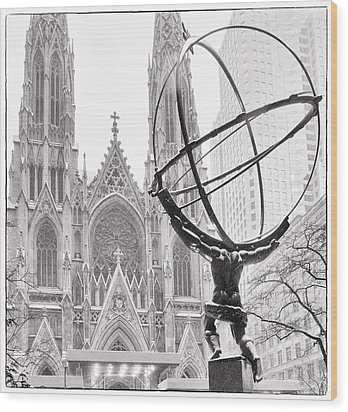 Atlas And The Cathedral Wood Print by Vicki Jauron
