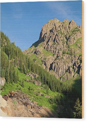 Wood Print featuring the photograph Atlas Mine by Steve Stuller