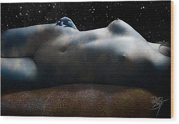 Atmosphere Wood Print by David Bollt