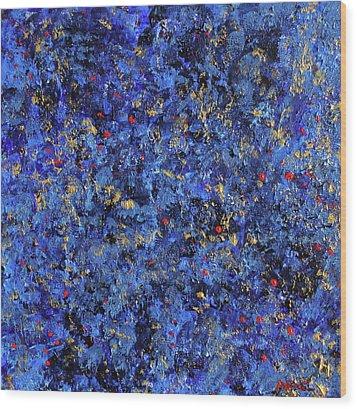Atmospheric Blue 201750 Wood Print by Alyse Radenovic